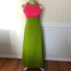 Vintage Mod Colour Block Sleeveless Dress